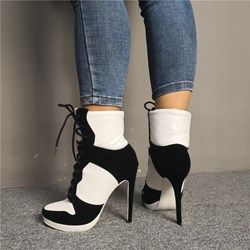 Shoespie Sexy Lace-Up Front Round Toe Lace-Up Boots