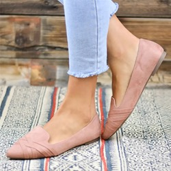 Shoespie Trendy Slip-On Pointed Toe Flats