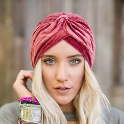 Pleated Ethnic Skullies & Beanies Fall Hats