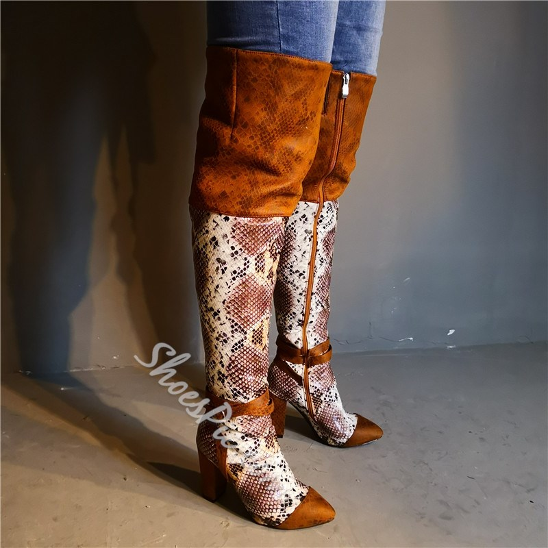 Shoespie Stylish Pointed Toe Side Zipper Fashion Boots
