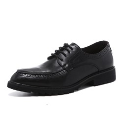 Shoespie Men's Plain Lace-Up Low-Cut Upper Round Toe Thin Shoes