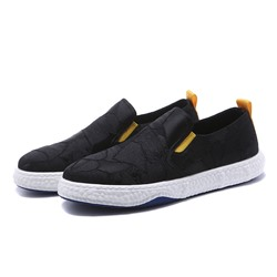 Shoespie Men's Color Block Low-Cut Upper Slip-On Round Toe Skate Shoes
