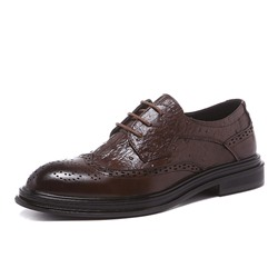 Shoespie Men's Plain Low-Cut Upper Lace-Up Round Toe Thin Shoes