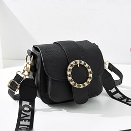 Shoespie PU Belt-Decorated Letter Crossbody Bags