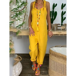 Western Plain Full Length Loose Women's Jumpsuit