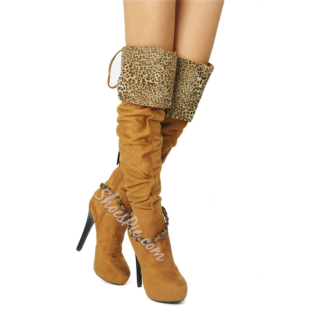 Shoespie Sexy Round Toe Side Zipper Fashion Boots