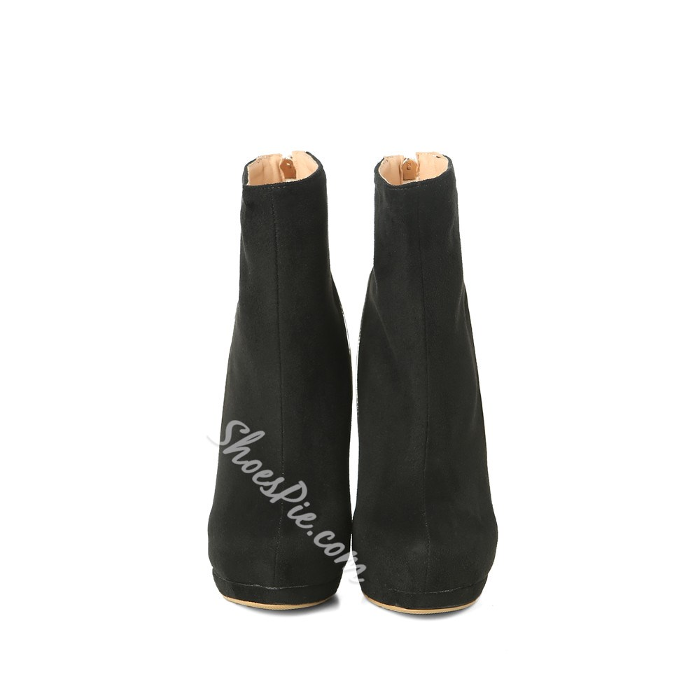 Shoespie Sexy Round Toe Side Zipper Ankle Boots