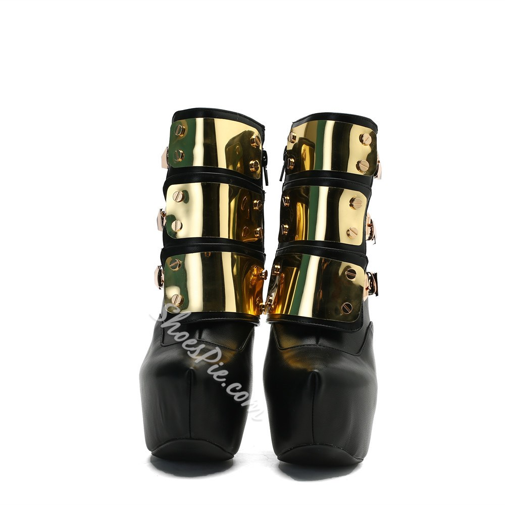 Shoespie Sexy Side Zipper Round Toe Boots