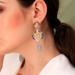 Diamante European Alloy Anniversary Earrings