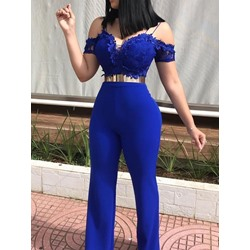 Plain Casual Full Length Slim Women's Jumpsuit