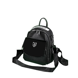 Shoespie Thread PU Letter Backpacks