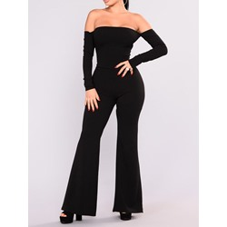 Plain Fashion Full Length Slim Women's Jumpsuit