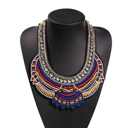 Colorful Bohemian Woven Pendant Necklace