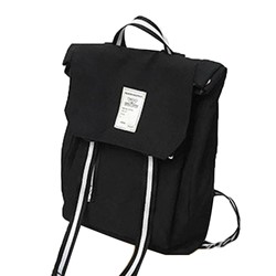 Shoespie Thread Stripe Nylon Backpacks