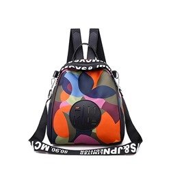 Shoespie Print Oxford Backpacks