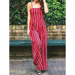 Strap Date Night Full Length High Waist Women's Jumpsuit