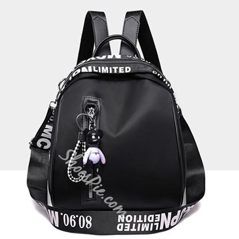 Shoespie Oxford Thread Letter Backpacks