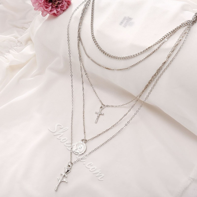 E-Plating Pendant Necklace Floral Female Necklaces