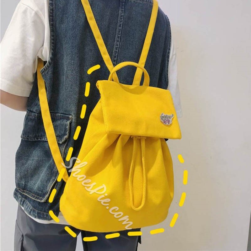 Shoespie Canvas Thread Backpacks