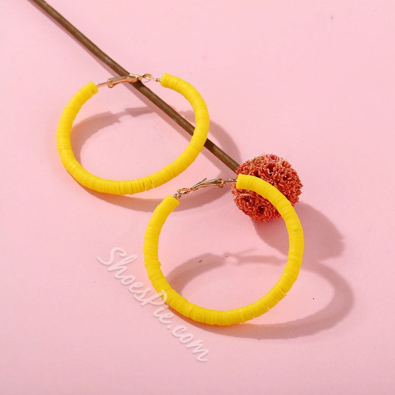 E-Plating Alloy Plain Anniversary Earrings