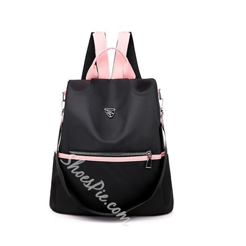 Shoespie Oxford Color Block Backpacks