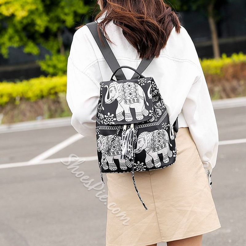 Shoespie Oxford Cartoon Thread Backpacks
