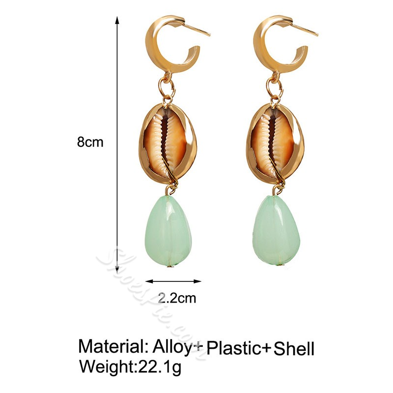 Color Block Alloy Vintage Gift Earrings