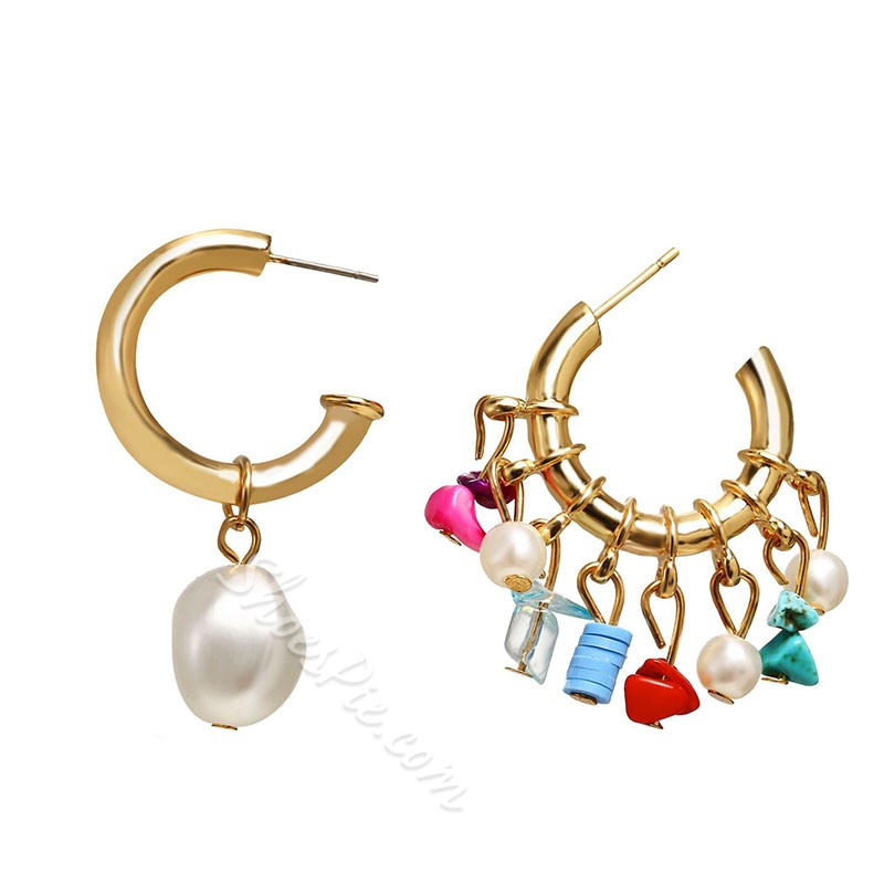 E-Plating Vintage Alloy Anniversary Earrings