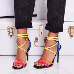 Shoespie Stylish Open Toe Stiletto Heel Buckle Sandals