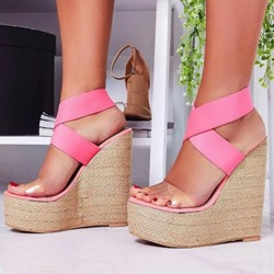 Shoespie Sexy Open Toe Wedge Heel Slip-On Casual Sandals