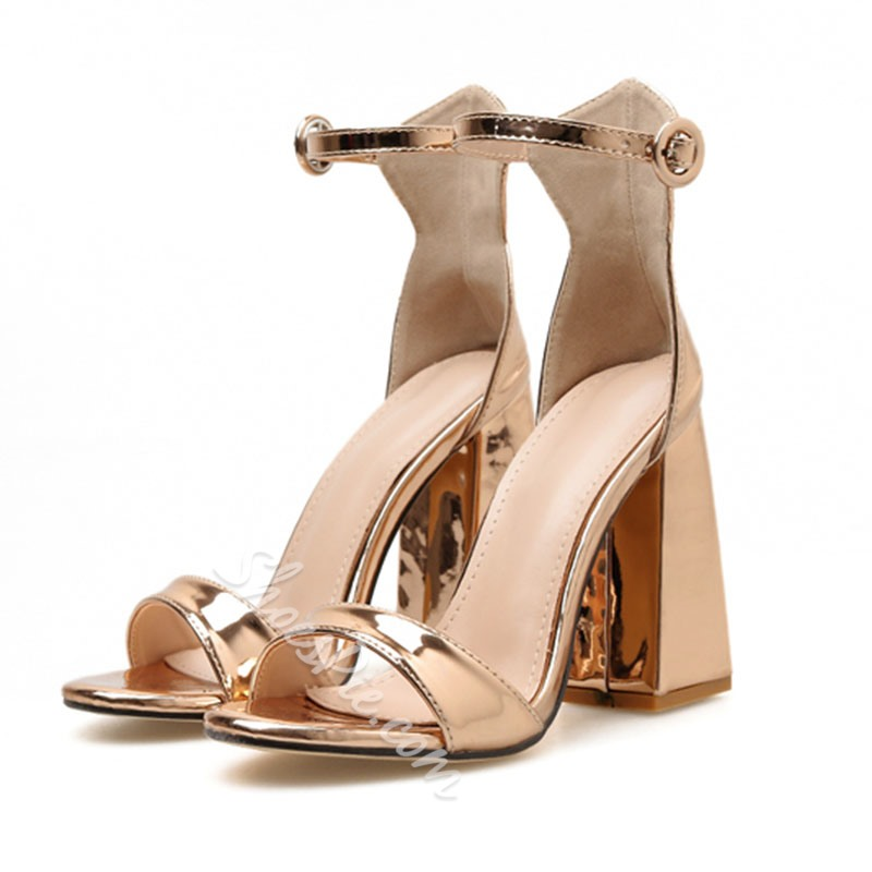Shoespie Chunky Heel Prom Sandals