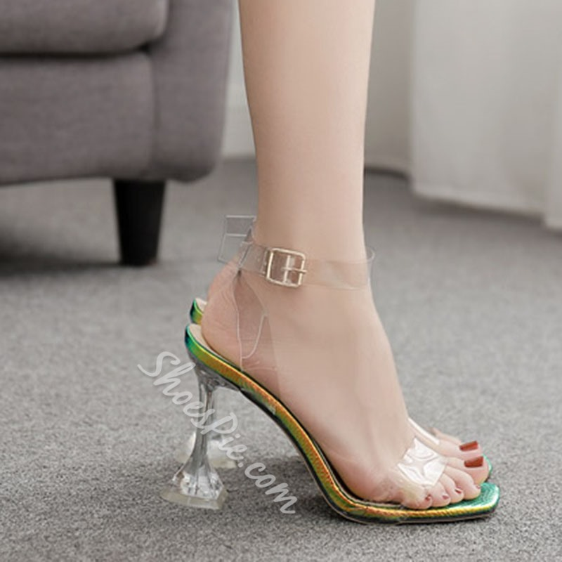 Shoespie Stylish Ankle Strap Stiletto Heel Buckle Buckle Sandals