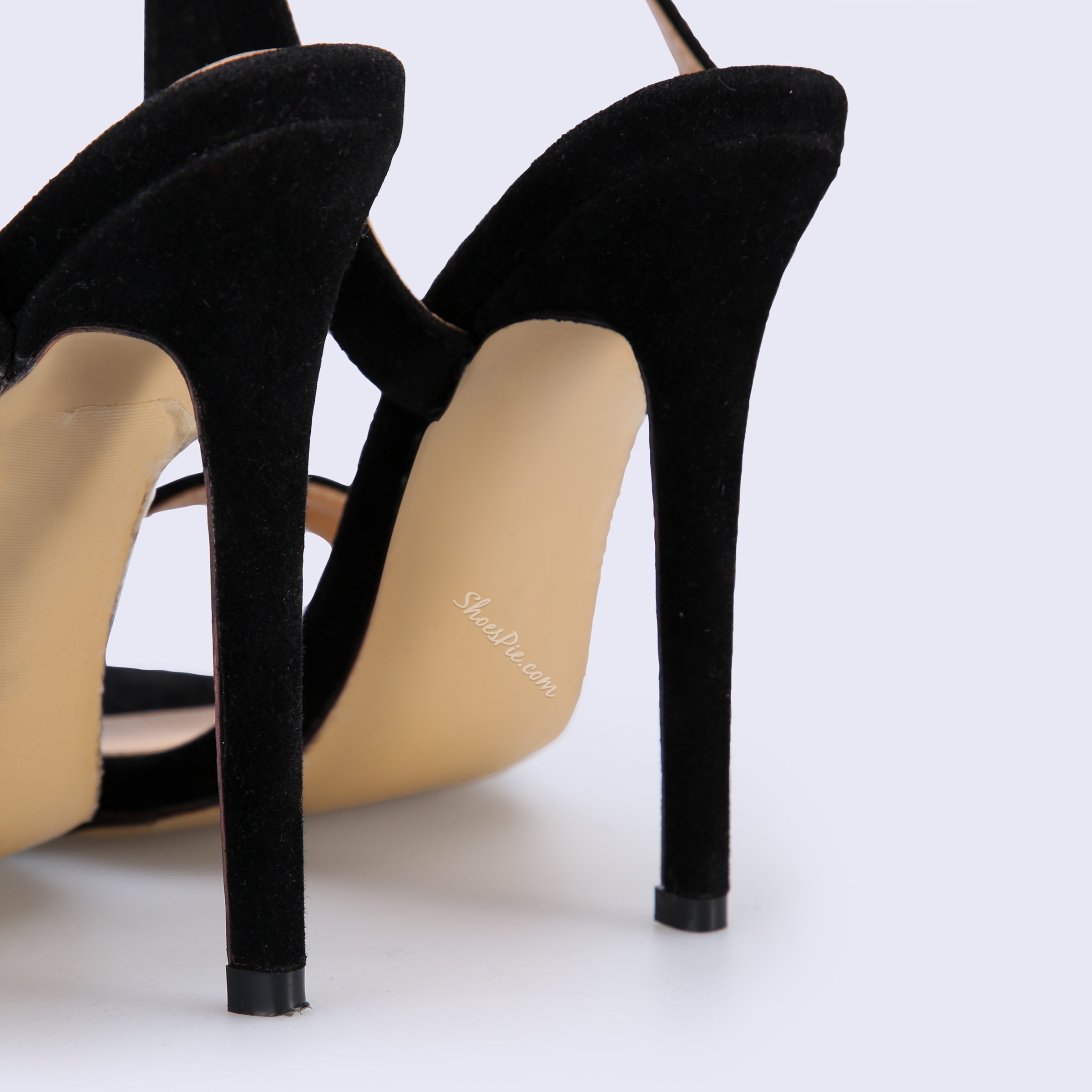 Shoespie Beaded Black Sexy Ankle Strap Stiletto Heels