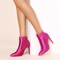 Shoespie Rose Zipper Stiletto Heel Ankle Boots