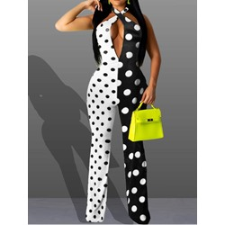 Patchwork Fashion Color Block Slim Women's Jumpsuit