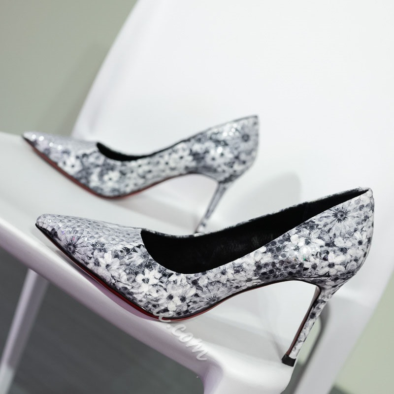 Shoespie Stylish Print Stiletto Heel Pumps