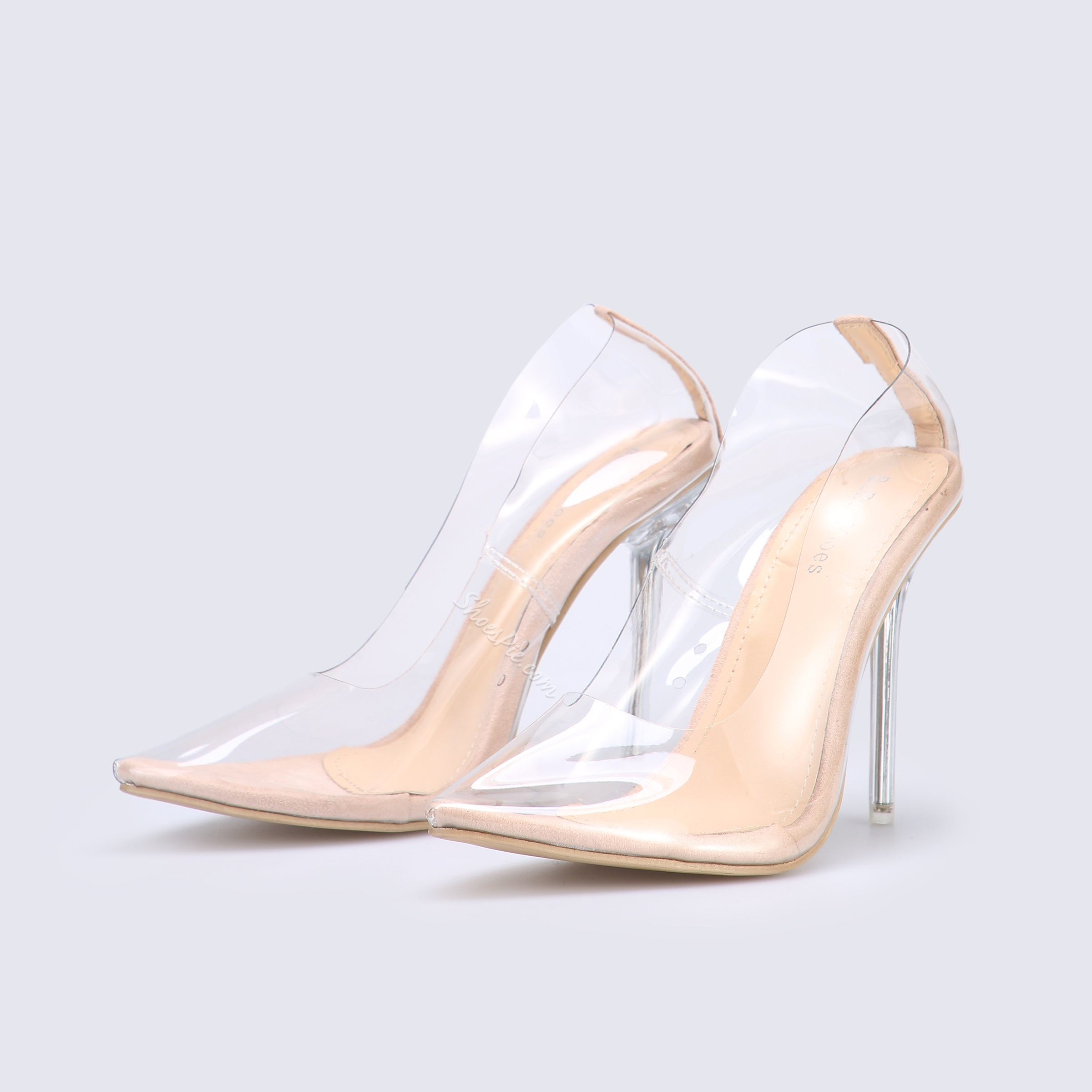 Shoespie Clear Pointed Toe High Heels