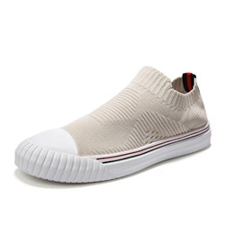 Shoespie Men's Low-Cut Upper Slip-On Color Block Round Toe Skate Shoes