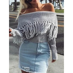 Regular Thick Backless Spring Women's Sweater