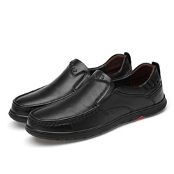 Shoespie Men's Plain Slip-On Low-Cut Upper Round Toe Casual Shoes