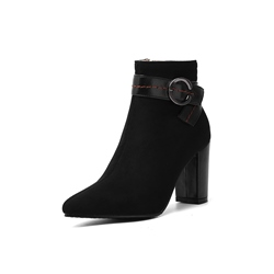 Shoespie Sexy Color Block Side Zipper Chunky Heel Sexy Boots