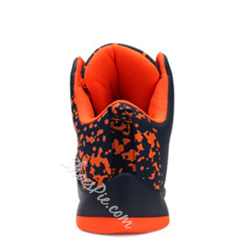Shoespie Men's High-Cut Upper Sports Lace-Up Print Sneakers
