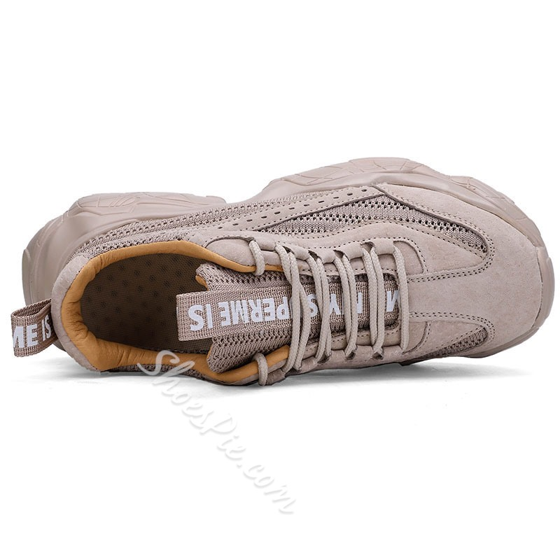 Shoespie Men's Sports Low-Cut Upper Lace-Up Round Toe Sneakers