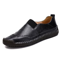 Shoespie Men's Slip-On Low-Cut Upper Plain Round Toe Thin Shoes