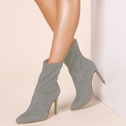 Shoespie Stylish Pointed Toe Zipper Stiletto Heel Boots