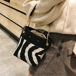 Shoespie PU Print Rectangle Crossbody Bags