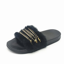 Shoespie Sexy Slip-On Flip Flop Flat With Plain Slippers
