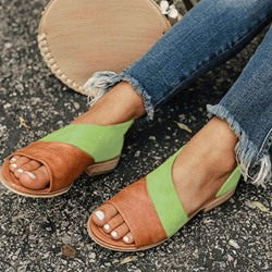 Shoespie Open Toe Heel Flat Slip-On Sandals