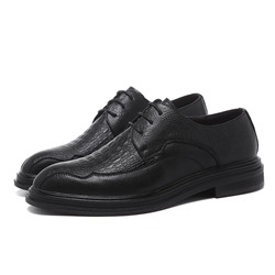 Shoespie Men's Low-Cut Upper Plain Lace-Up Round Toe Thin Shoes