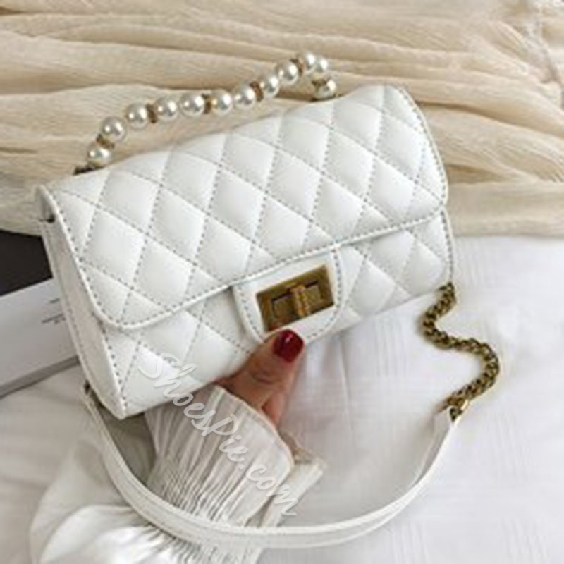 Shoespie PU Plaid Quilted Lining Rectangle Crossbody Bags